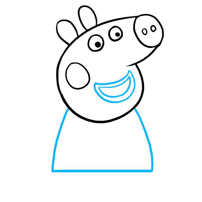 How to Draw Peppa Pig: Step 7