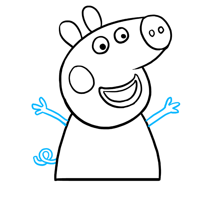 How to Draw Peppa Pig: Step 8