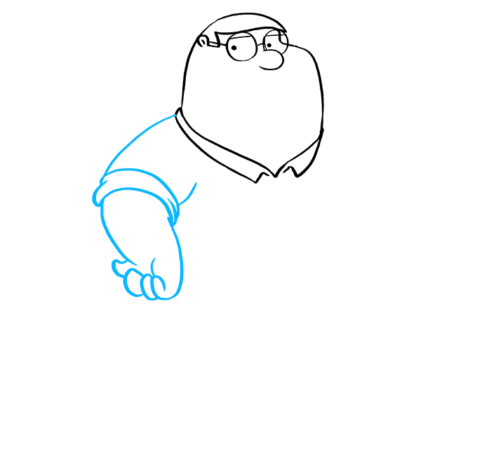 How to Draw Peter Griffin from Family Guy: Step 4