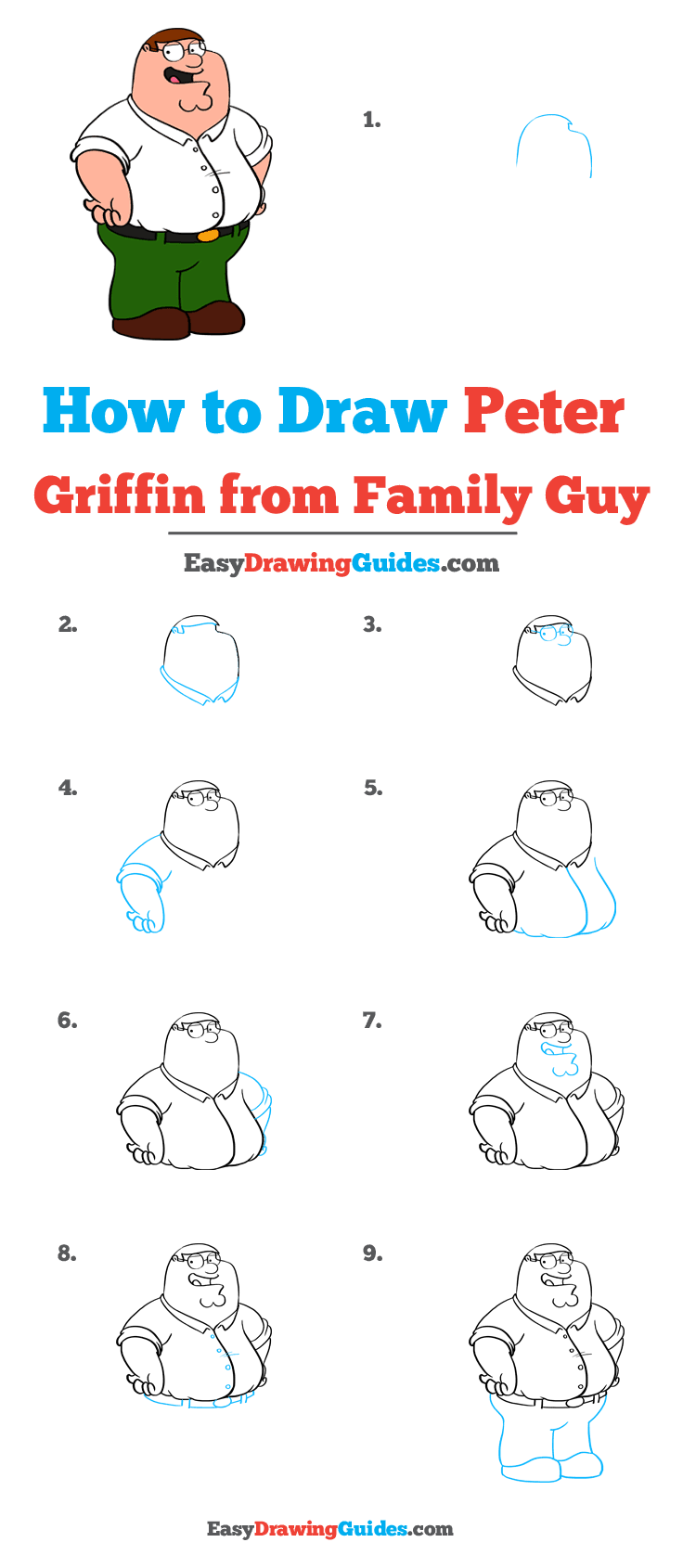 How to Draw Peter Griffin from Family Guy