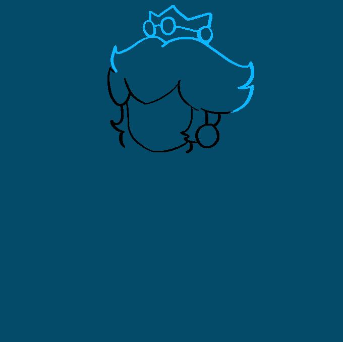 How to Draw Princess Peach from Super Mario Bros Step 02
