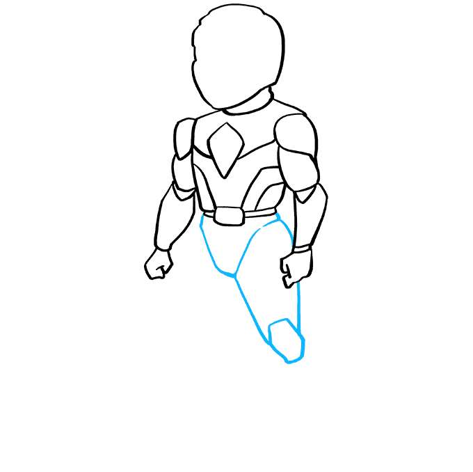 How to Draw The Red Ranger from Power Rangers: Step 6