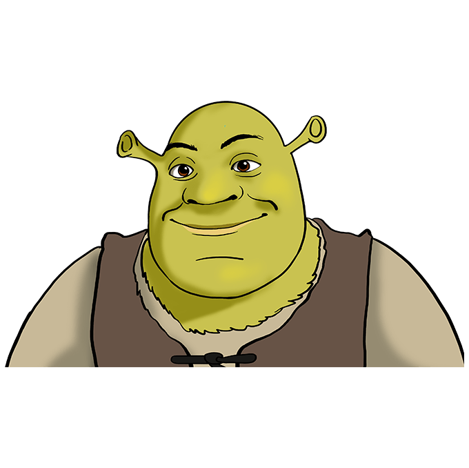How to Draw Shrek: Step 10