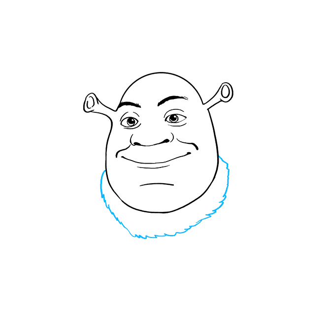 How to Draw Shrek: Step 7
