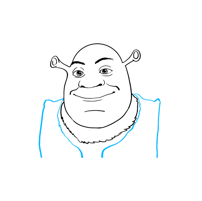 How to Draw Shrek: Step 8