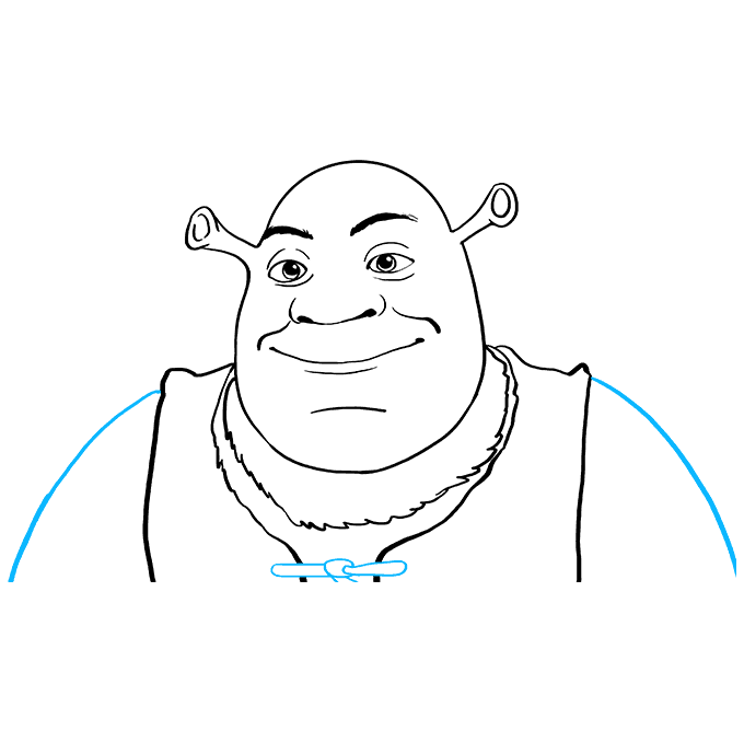 How to Draw Shrek: Step 9