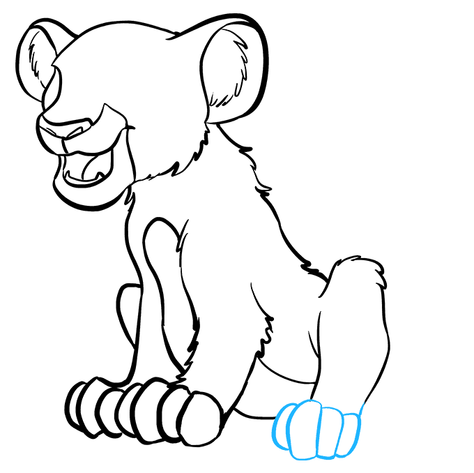 How to Draw Simba from the Lion King: Step 6