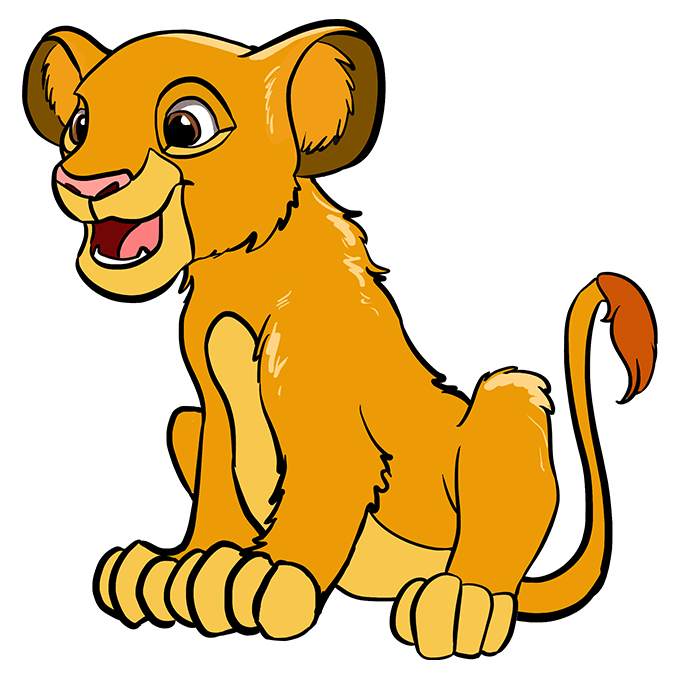 How to Draw Simba from the Lion King Step 10