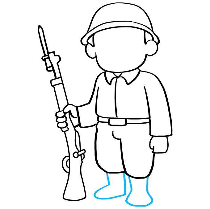 How to Draw Soldier: Step 6