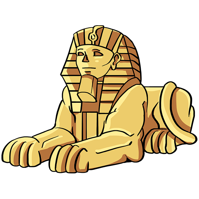 How to Draw Sphinx: Step 10