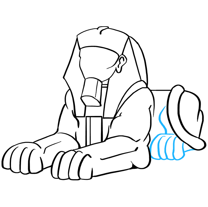 How to Draw Sphinx: Step 7
