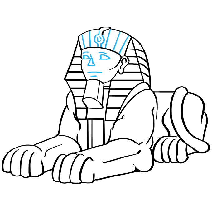 How to Draw Sphinx: Step 9