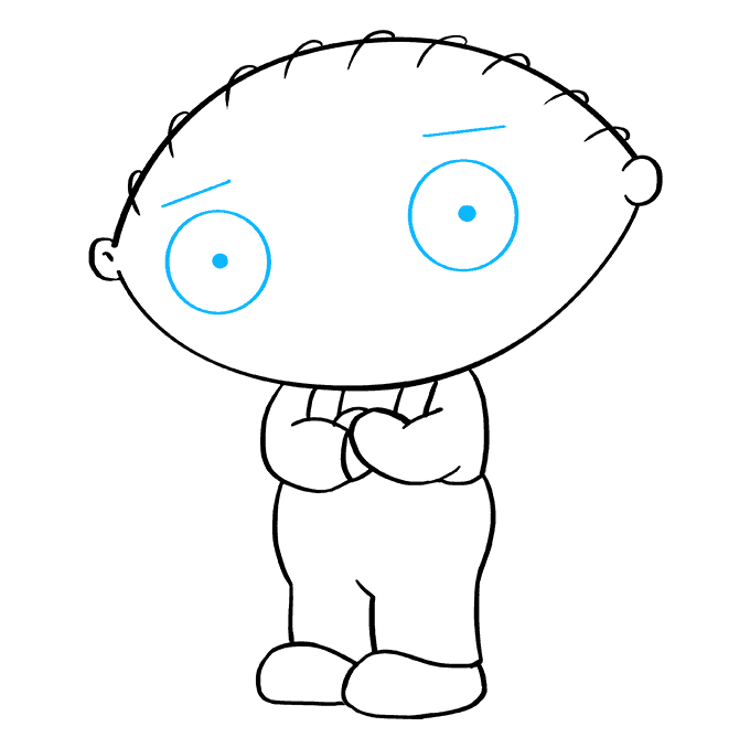 How to Draw Stewie Griffin from Family Guy: Step 8