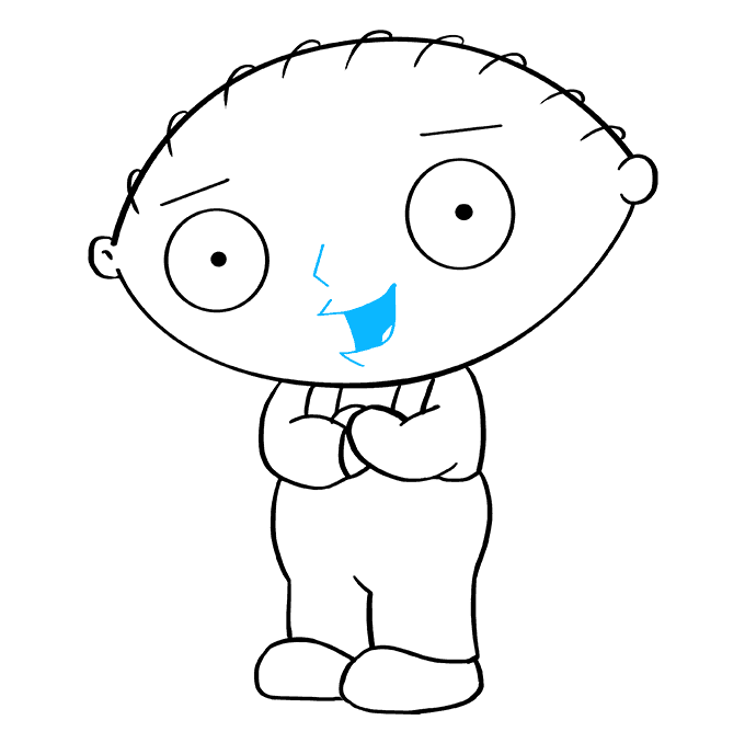 How to Draw Stewie Griffin from Family Guy: Step 9