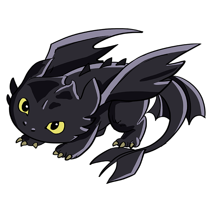 How to Draw Toothless from How to Train your Dragon Step by Step 10