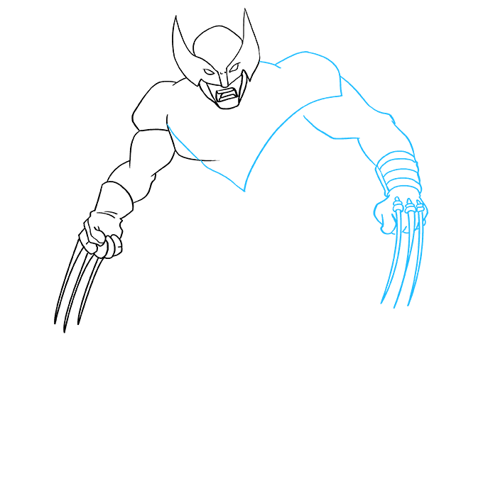 How to Draw Wolverine from X-Men: Step 5