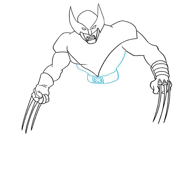 How to Draw Wolverine from X-Men: Step 6