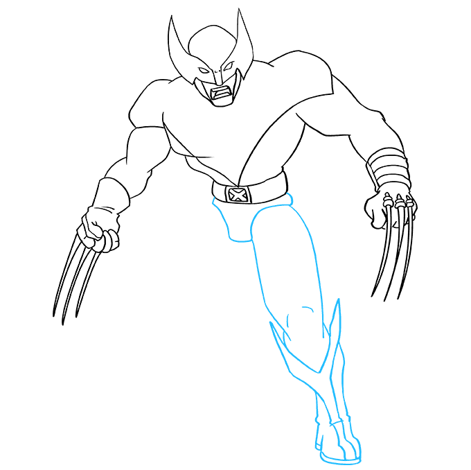 How to Draw Wolverine from X-Men: Step 7