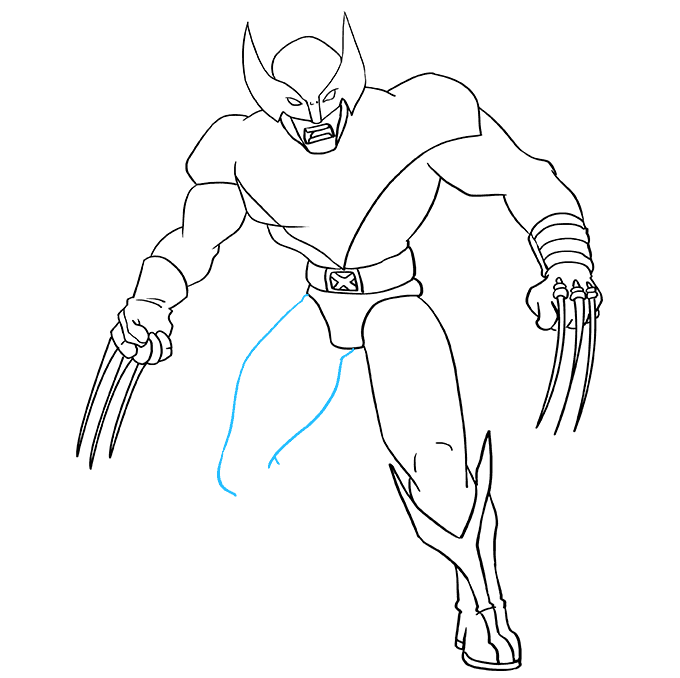 How to Draw Wolverine from X-Men: Step 8