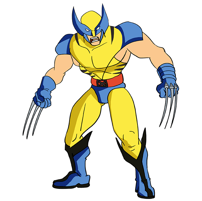 How to Draw Wolverine from X-Men: Step 10