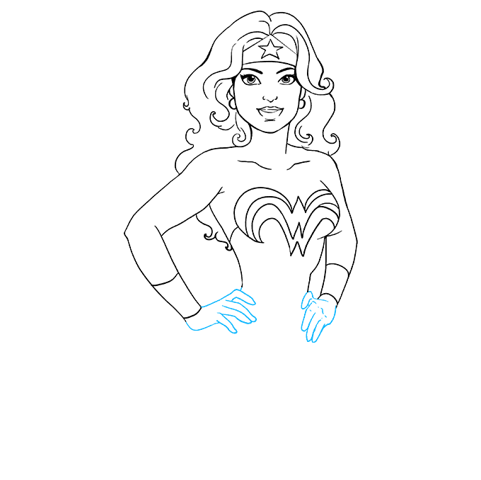 How to Draw Wonder Woman: Step 8