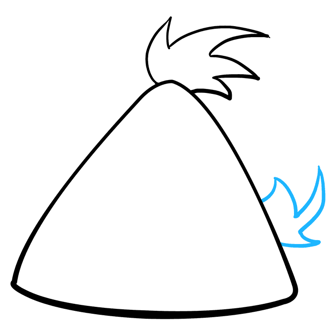 How to Draw Yellow Angry Bird: Step 3