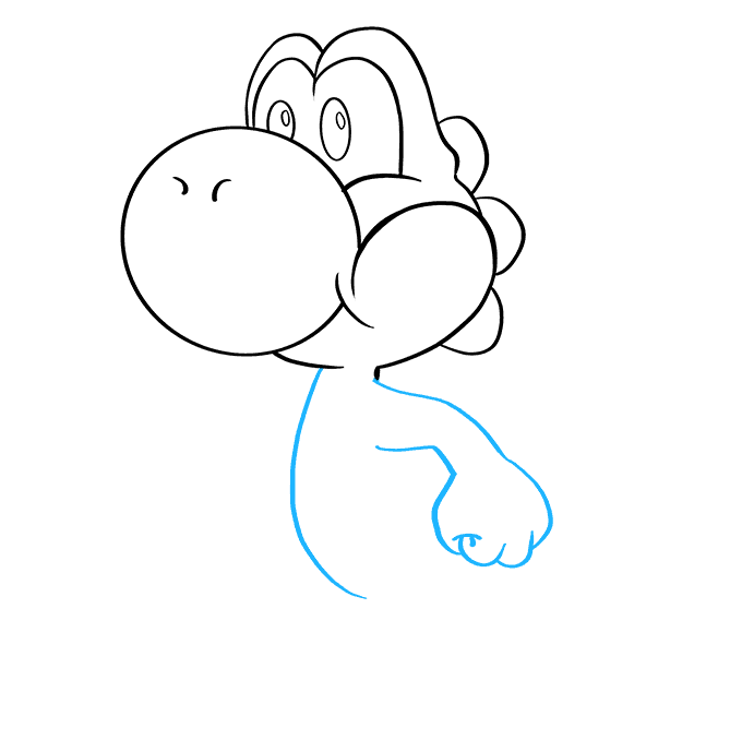 How to Draw Yoshi Step 5