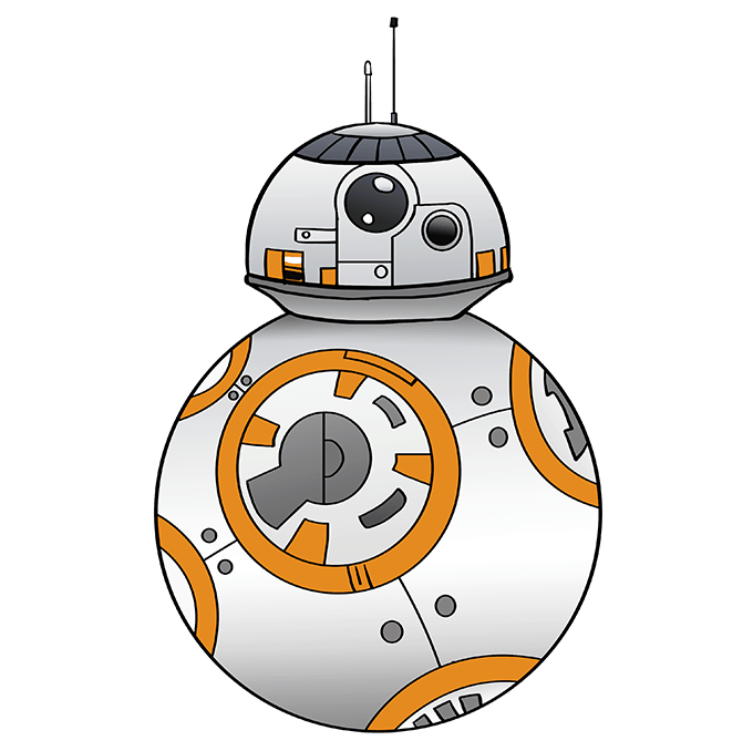 How to Draw BB-8 from Star Wars: Step 10