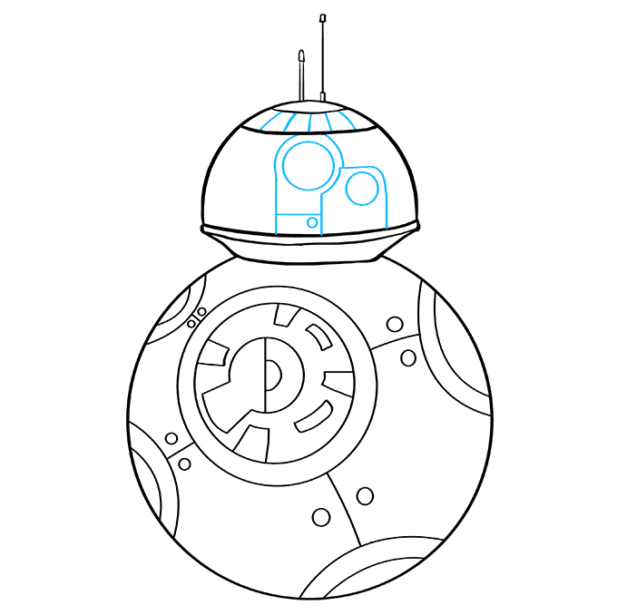 How to Draw BB-8 from Star Wars: Step 7