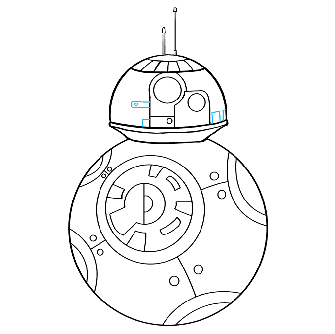 How to Draw BB-8 from Star Wars: Step 8