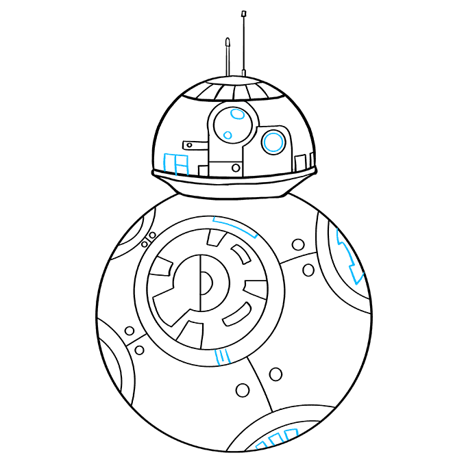 How to Draw BB-8 from Star Wars: Step 9