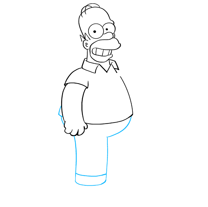 How to Draw Homer Simpson: Step 6