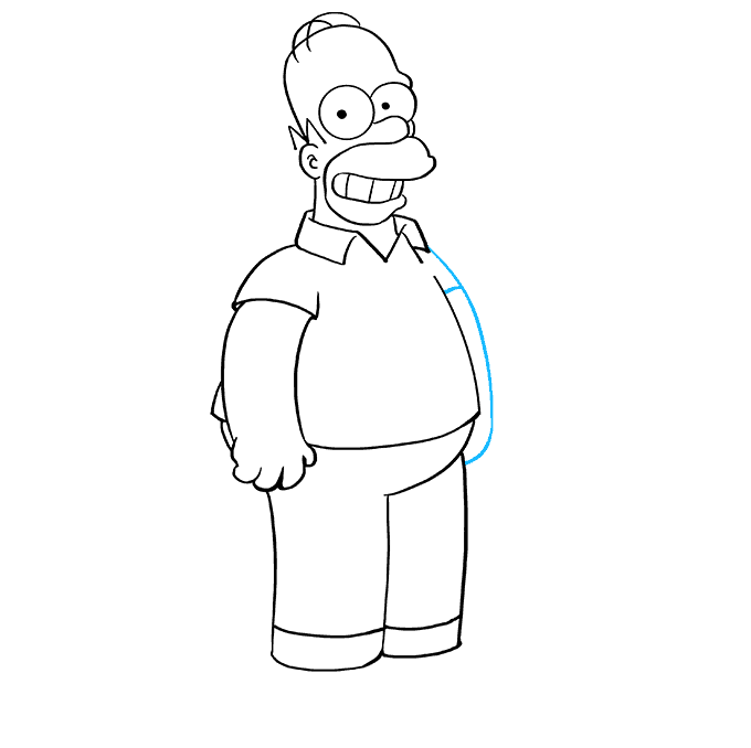 How to Draw Homer Simpson: Step 8