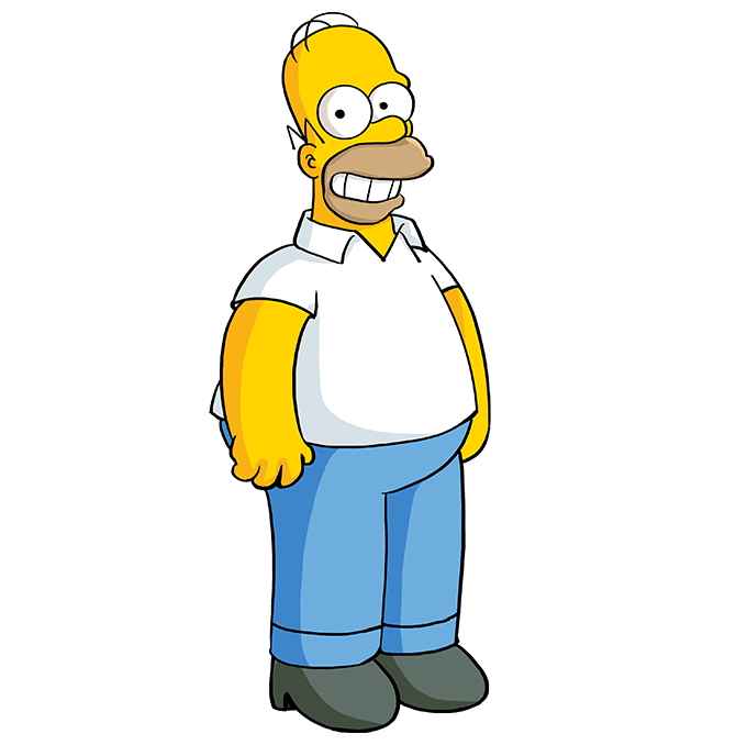 How to Draw Homer Simpson: Step 10