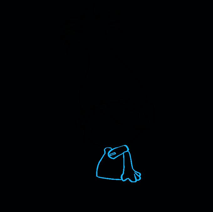 How to Draw Poppy from Trolls Step 6