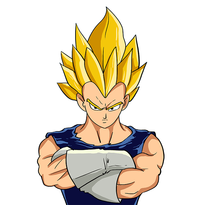 How to Draw Vegeta from Dragon Ball: Step 10