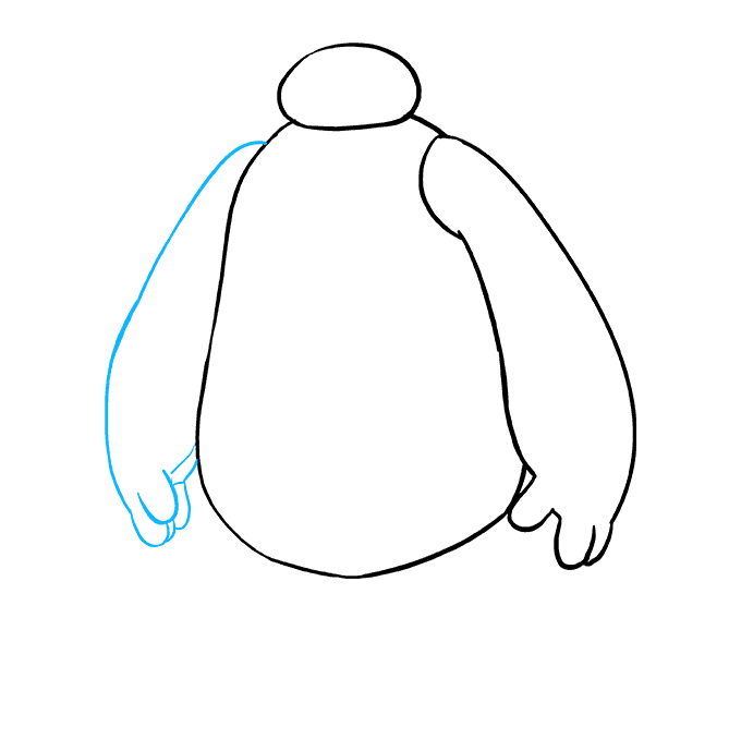 How to Draw Baymax from Big Hero 6: Step 6