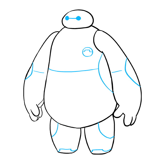 How to Draw Baymax from Big Hero 6: Step 9