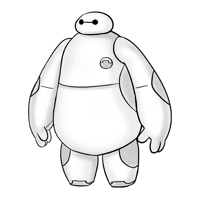 How to Draw Baymax from Big Hero 6: Step 10