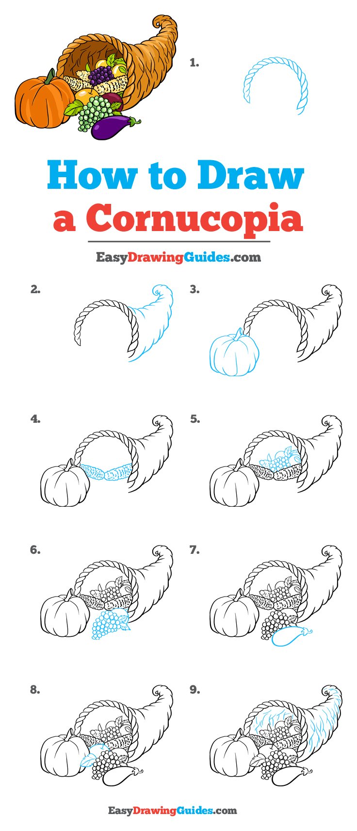 How to Draw Cornucopia