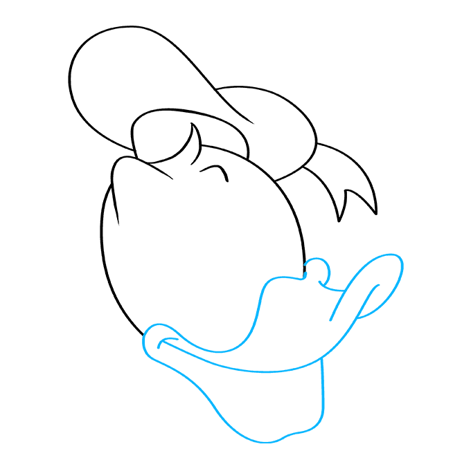 How to Draw Donald Duck: Step 7