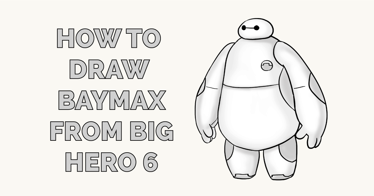 How to Draw Baymax from Big Hero 6 Featured Image