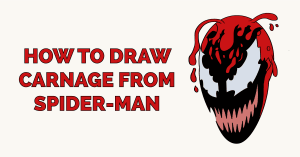 How to Draw Carnage from Spider-man Featured Image