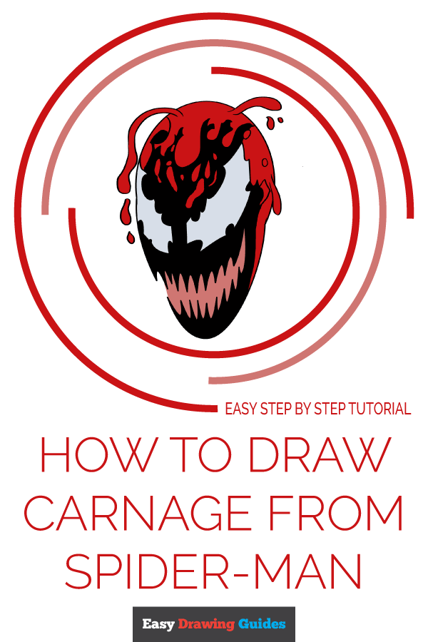 How to Draw Carnage from Spider-Man | Share to Pinterest