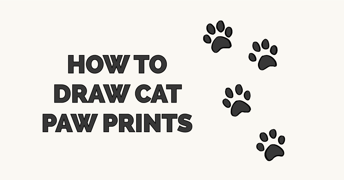 How to Draw Cat Paw Prints Featured Image