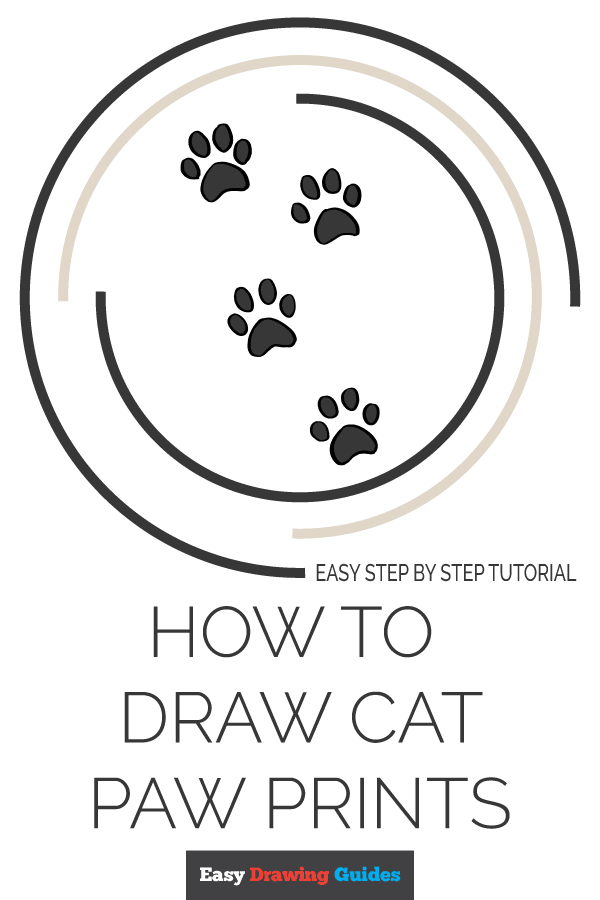 How to Draw Cat Paw Prints | Share to Pinterest