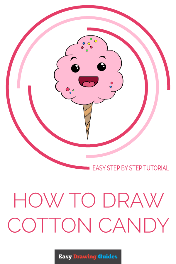 How to Draw Cotton Candy | Share to Pinterest