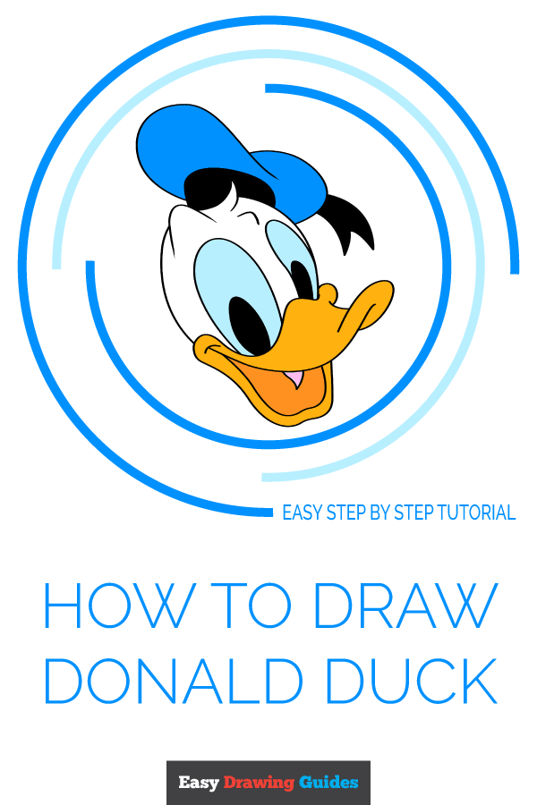 How to Draw Donald Duck | Share to Pinterest