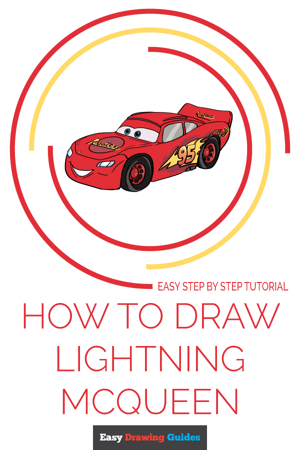 How to Draw Lightning McQueen | Share to Pinterest