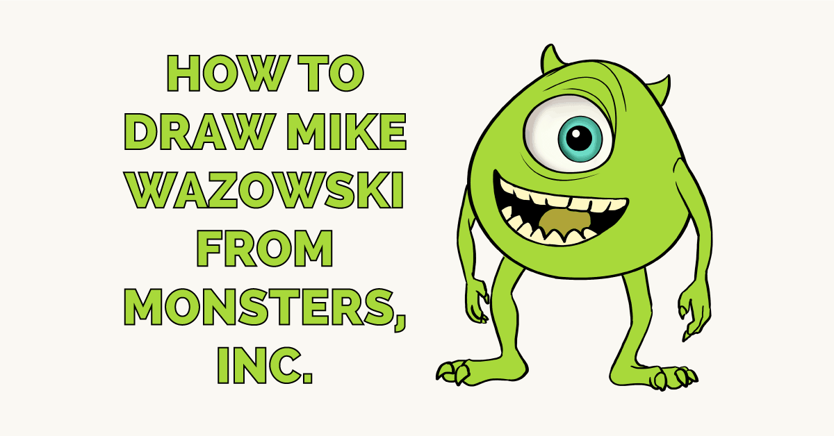 How to Draw Mike Wazowski from Monsters, Inc. Featured Image